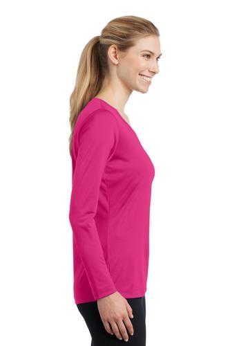 Ladies Long Sleeve Wicking V-Neck Tee